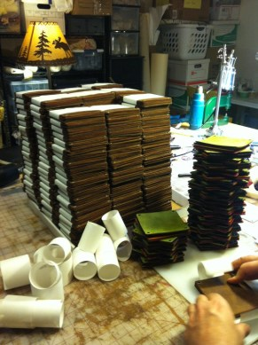 25o sets of coasters. Dad was the coaster master!