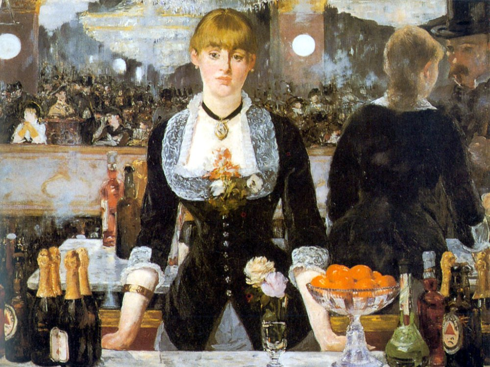 Bar at the Folies Bergere by Edouard Manet (1882)