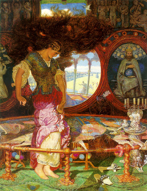 The Lady of Shalott by William Holman Hunt (1888)