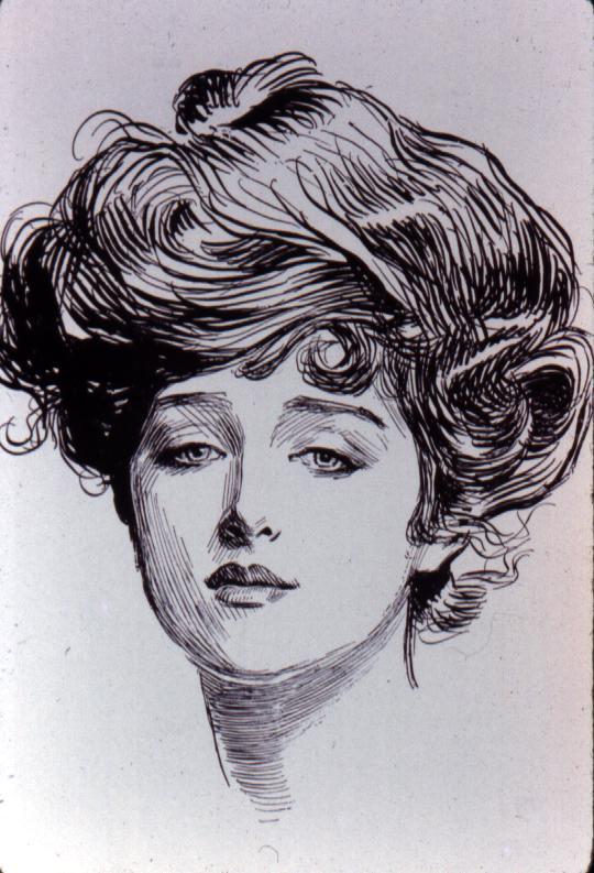 Gibson Girl by Charles Dana Gibson (1890s) (1/3)