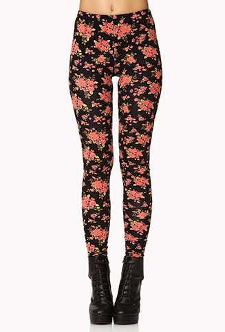 Rose Print Leggings at Forever 21, $11