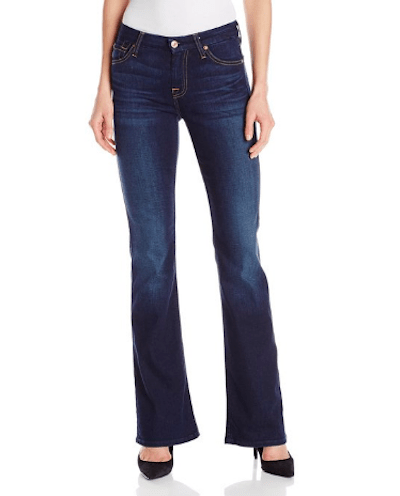 7 For All Mankind Women's Midrise Kimmie Bootcut Jean In Dark Royal Indigo