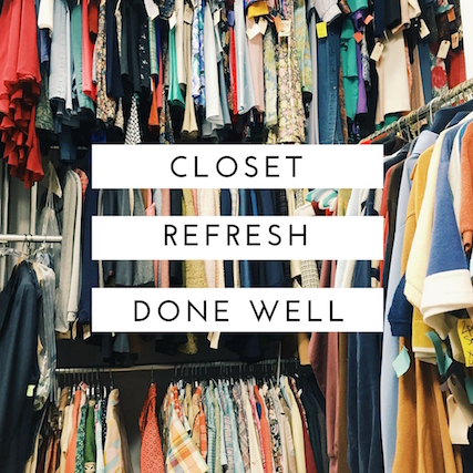 A closet cleanse not only helps simplify your wardrobe, it gives you more options from stuff you already own! It's an economical way to refresh your look.