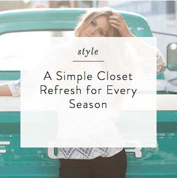 Simple Closet Refresh | elyshalenkin.com | Mind Body Soul Stylist