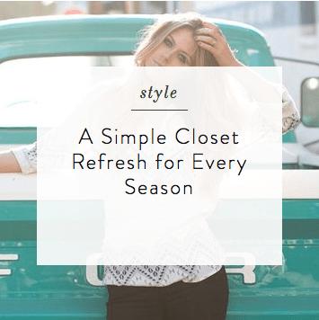 Simple Closet Refresh | elyshalenkin.com | Mind Body Soul Stylist