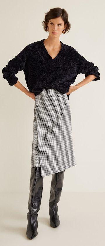 Previous/Next Houndstooth skirt