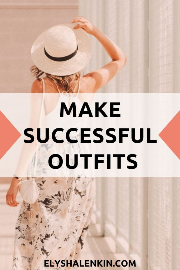 Make successful outfits. One woman wearing a white straw hat and wearing a sundress.