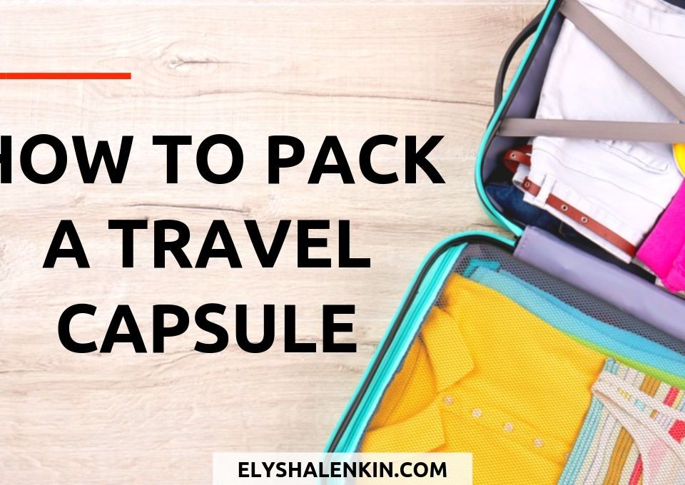 how to pack a travel capsule colorful suitcase