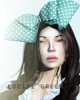 Lola headpiece - lucite green