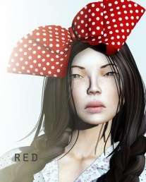 Lola headpiece - red