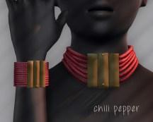 Ichtacha choker set - chili pepper