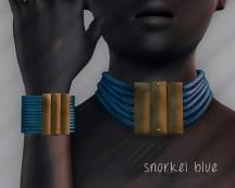 Ichtacha choker set - snorkel blue