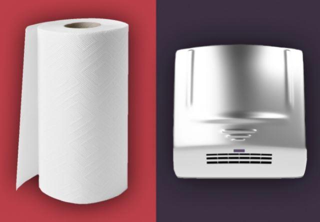 Los secadores de manos propagan bacterias fecales