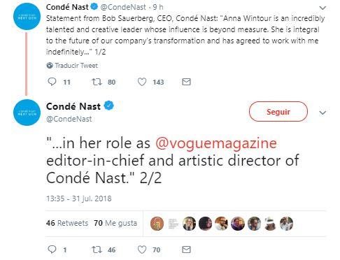 Anna Wintour no se va de Vogue