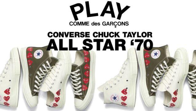 Ya están disponibles las últimas COMME des GARÇONS PLAY x Converse Chuck Taylor