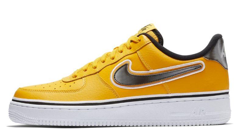 6584a992e9c Las deportivas amarillas de Nike que homenajean a los LA Lakers con Air  Force 1