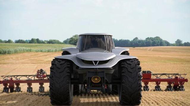 Lorenzo Mariotti imagina el tractor del futuro en 2040 como un monstruo eléctrico