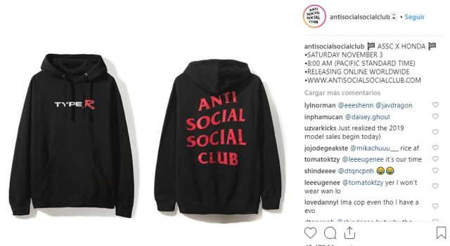 Anti Social Social Club x Honda