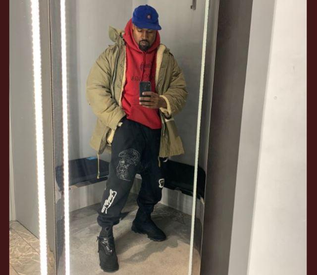 Kanye West, visto con unas nuevas botas YEEZY inéditas