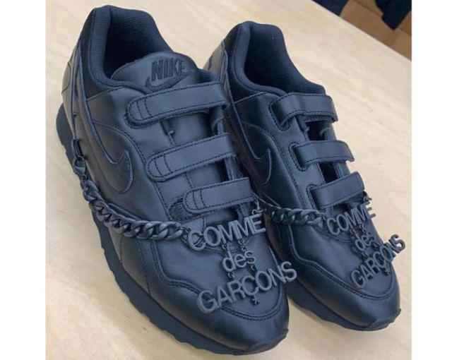 Las nuevas COMME des GARÇONS x Nike con cierre de velcro