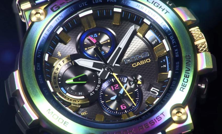 5f151985ad90 Casio G-SHOCK presenta la edición limitada del reloj MT-G en un color Lunar  Rainbow