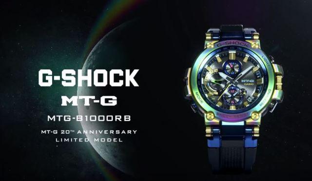 548bdbef93c0 Esta edición especial del MT-G viene con una banda de uretano y en un  embalaje especial que continúa el acabado Rainbow IP. Asimismo