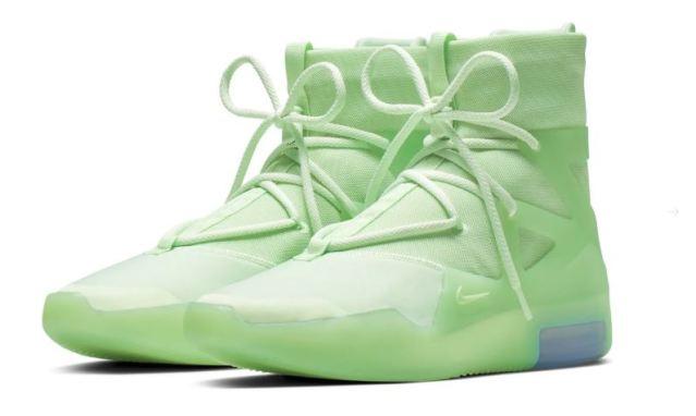 Presentadas las nuevas versiones de las Nike Air Fear of God 1 en tonos verdes y naranjas