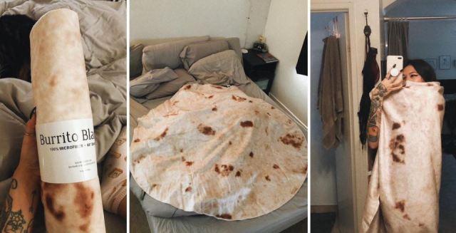 La manta que te permite transformarte en burrito humano