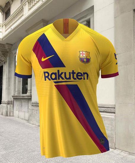 camiseta de visitante del Barcelona