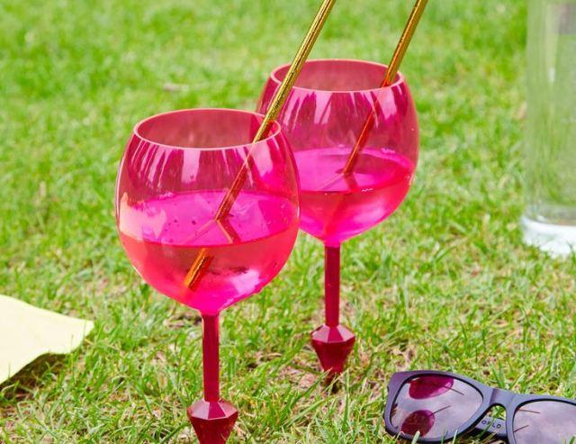copas de vino flotantes