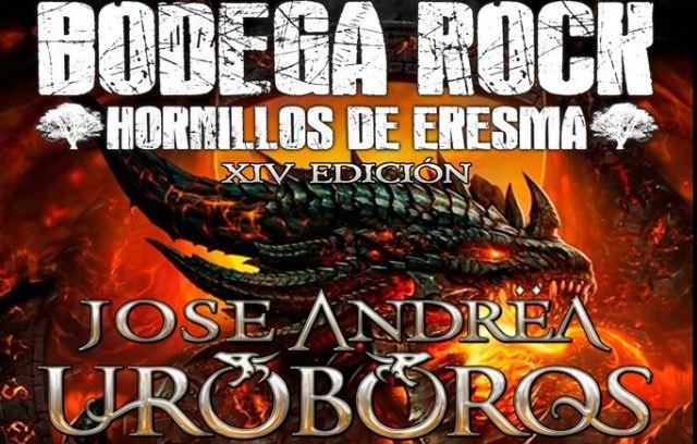 José Andrea Uroboros, en el festival gratuito Bodega Rock 2019