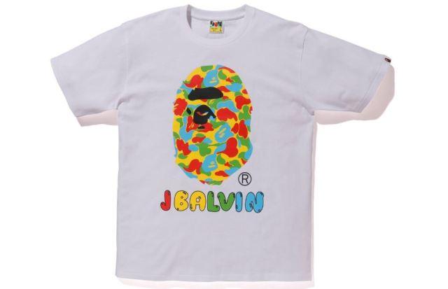 Llega una camiseta J Balvin x BAPE con estampado de camuflaje
