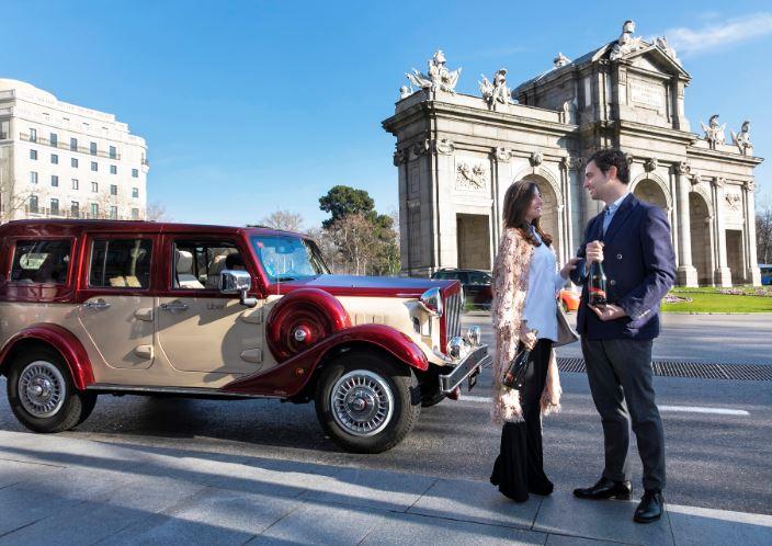 coches clásicos para Sn Valentín