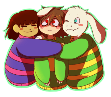 Undertale Tori Asriel And Chara El Frisk