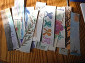 watercolor hand-painted bookmarks - to be laminated