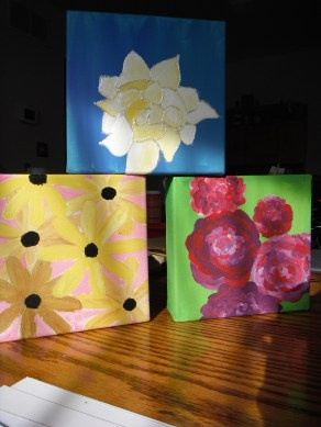 flower collection - acrylic on canvas