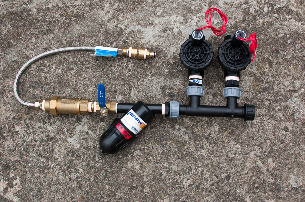 solenoid valves, manifold, ball valve and filter