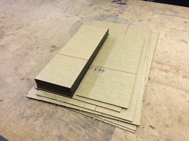 pile of acrylic sheets neetly lined up