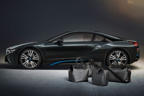 louis vuitton luggage set for 2014 bmw i8 02 570x378 Louis Vuitton Luggage Set for 2014 BMW i8
