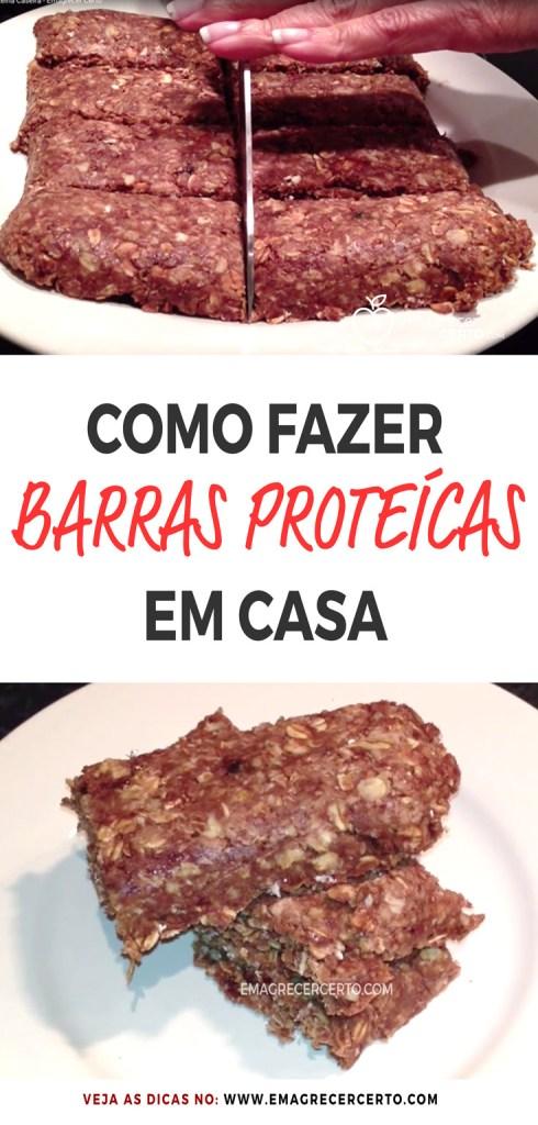 Como Fazer Barras De Proteína Caseira Sem Cozinhar | Blog EmagrecerCerto.com