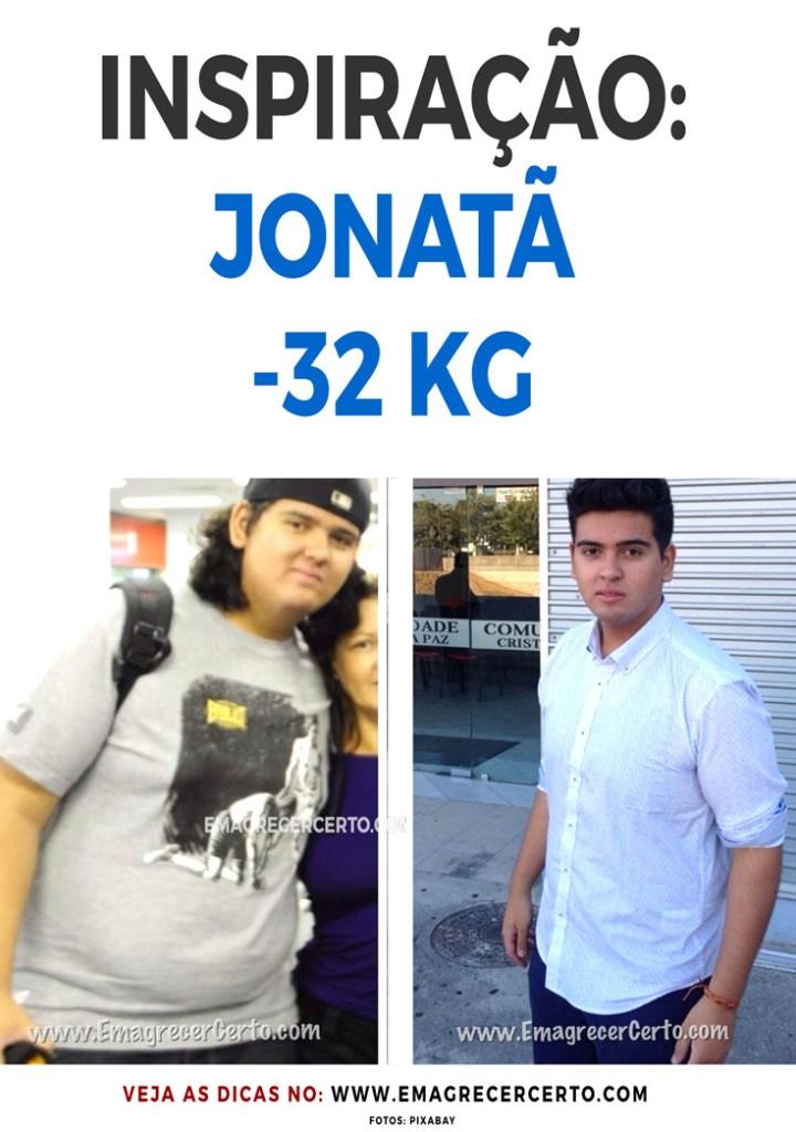 Inspiração: Jonatã eliminou 32kg