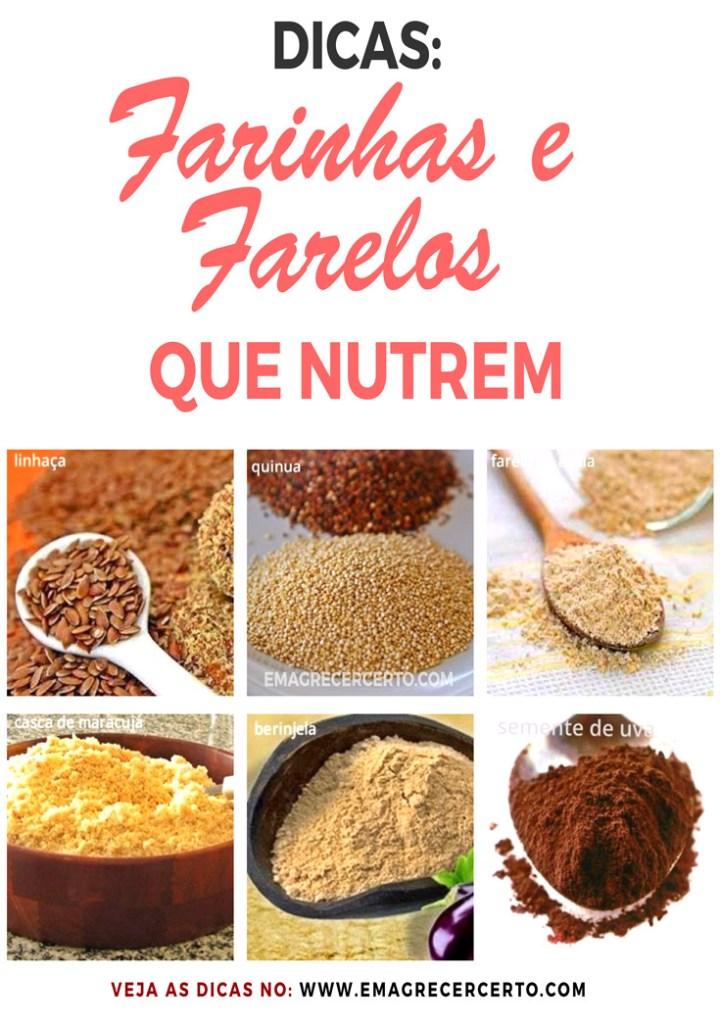 Farinhas e Farelos que Emagrecem e Nutrem | Dicas no blog EmagrecerCerto.com
