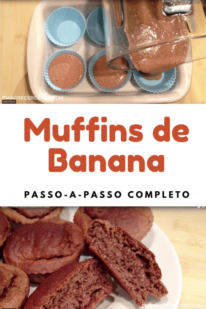 Muffins de banana com canela do blog Emagrecer Certo