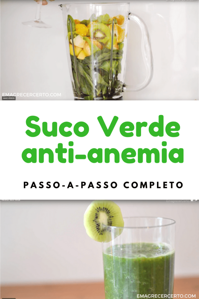 Suco verde anti-anemia do Blog Emagrecer Certo