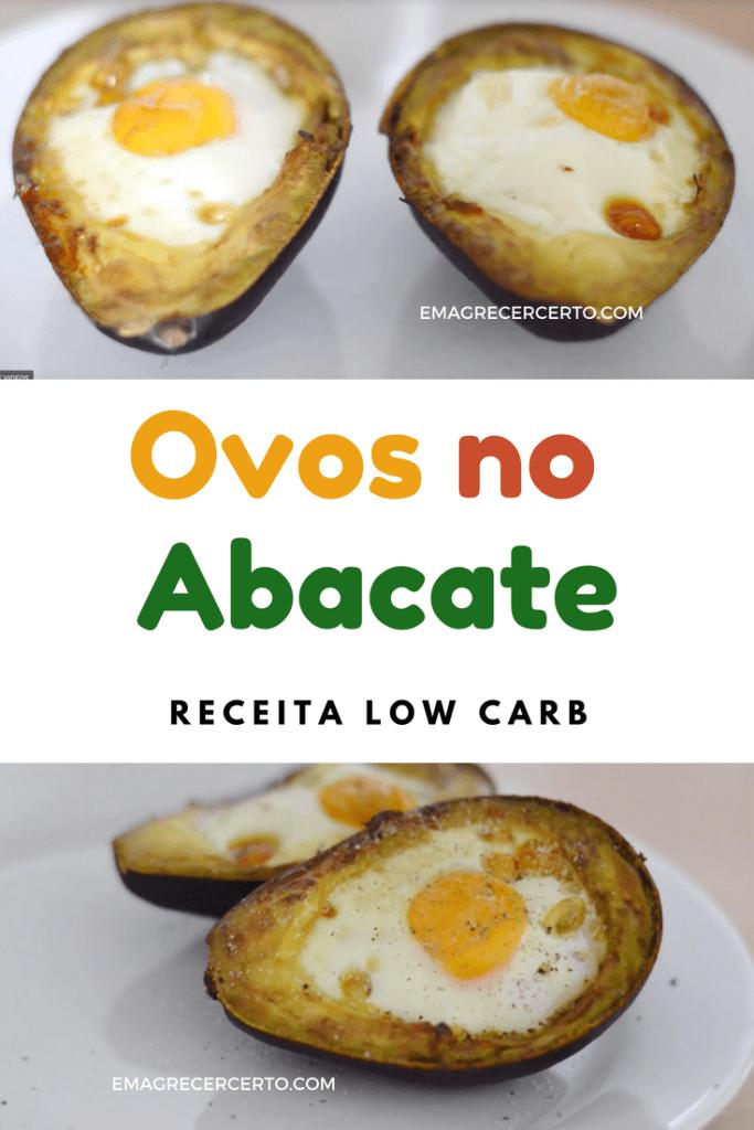 Ovos assados no abacate - low carb