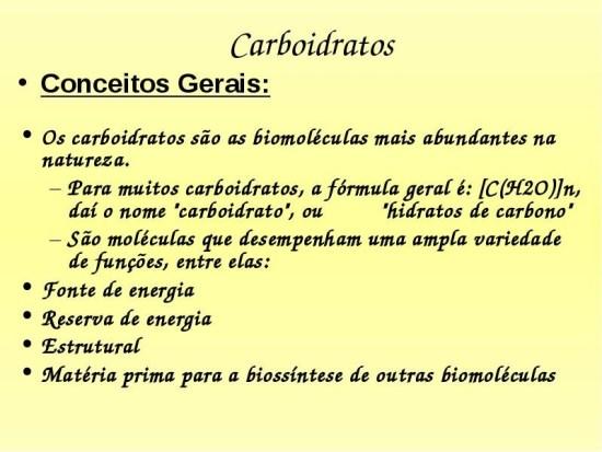 importancia dos carboidratos