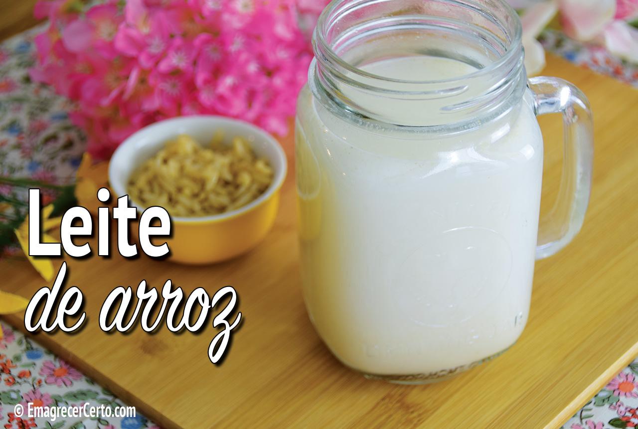 leite de arroz caseiro