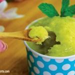 sorbet de abacaxi com hortela