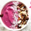smoothie de tigela rosa blog emagrecer certo
