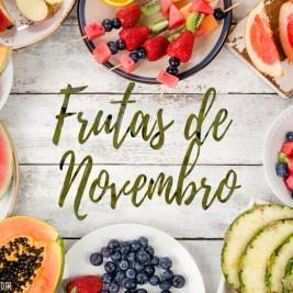 frutas da estação de novembro